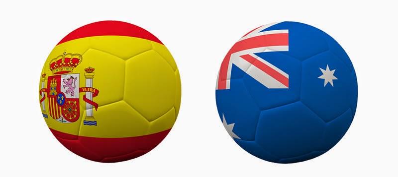 Australia (eliminada) 0 - 3 España (eliminada). Grupo B