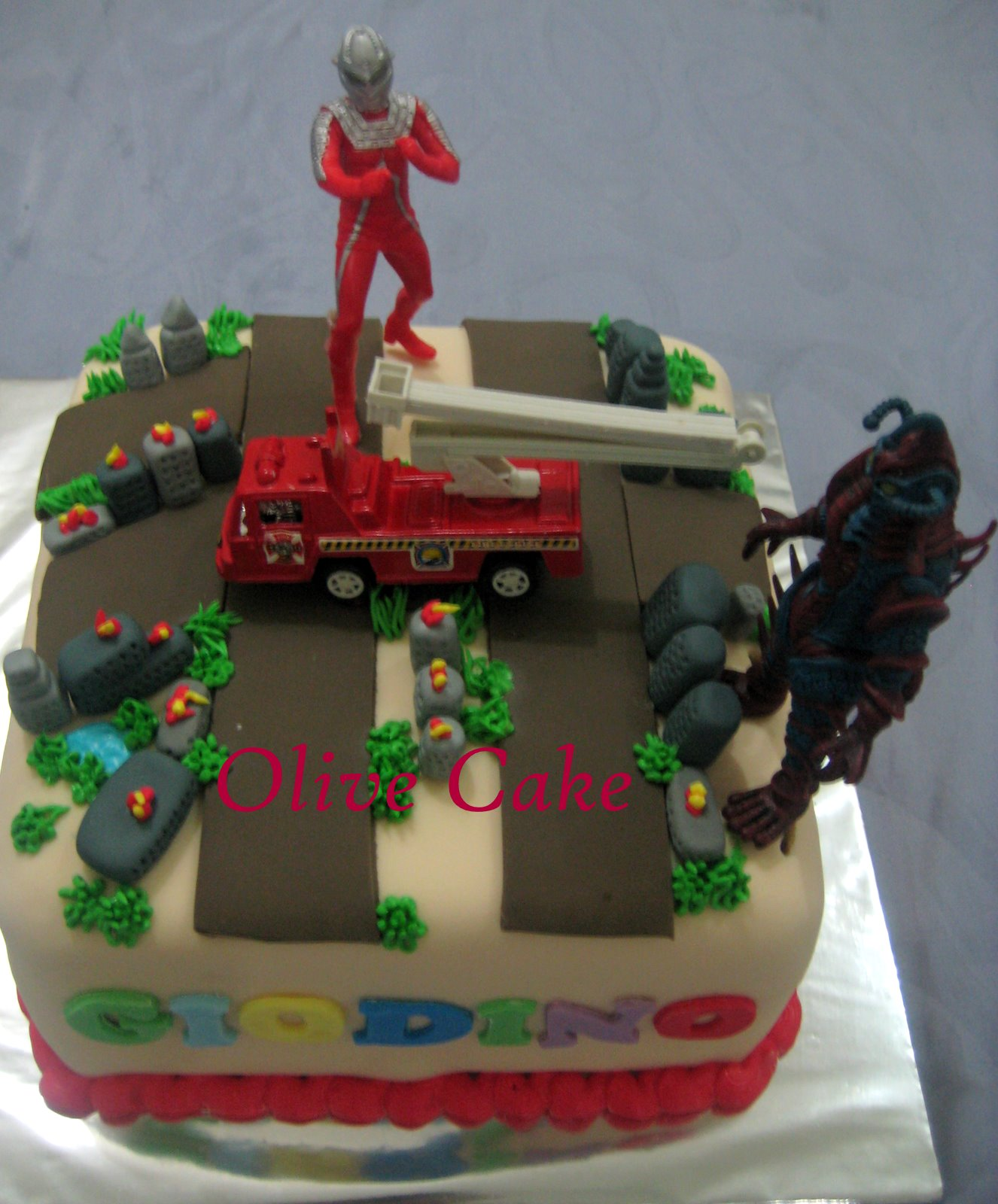 Pin Ultraman Edible Cake Butter Choc With Sugar Icing Customer Cake on ...