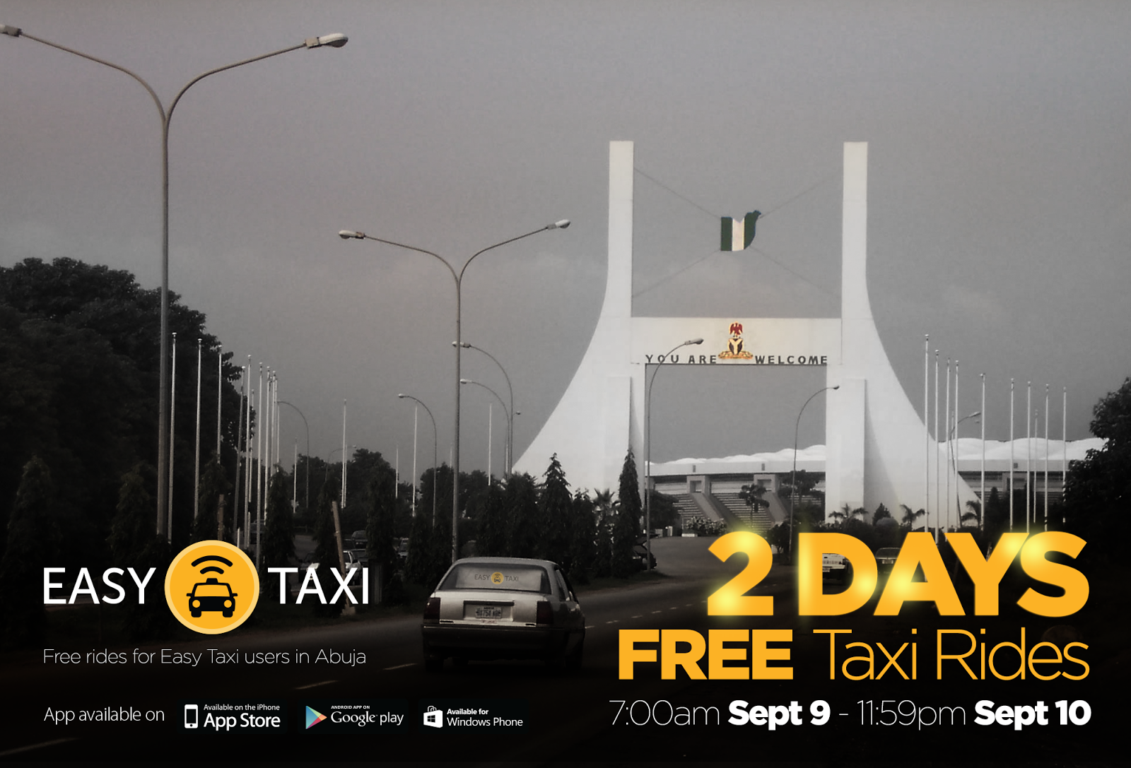 Easy Taxi promotes safe commuting in Abuja by offering free rides