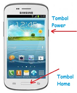Cara Screenshot atau Screen Capture di HP Samsung Galaxy Infinite I759