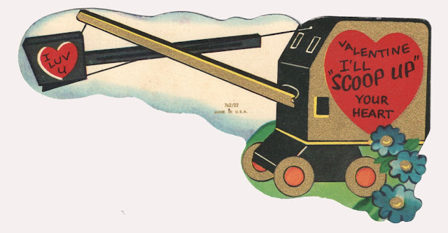 vintage illustration, vintage valentine, vintage flax