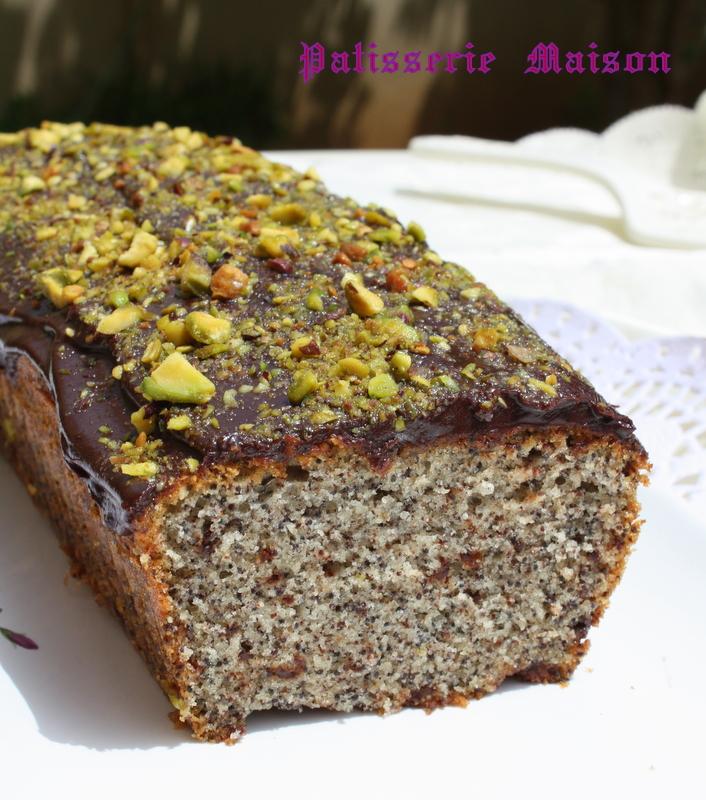 patisserie maison cake aux graines de pavot chocolat et pistaches. Black Bedroom Furniture Sets. Home Design Ideas