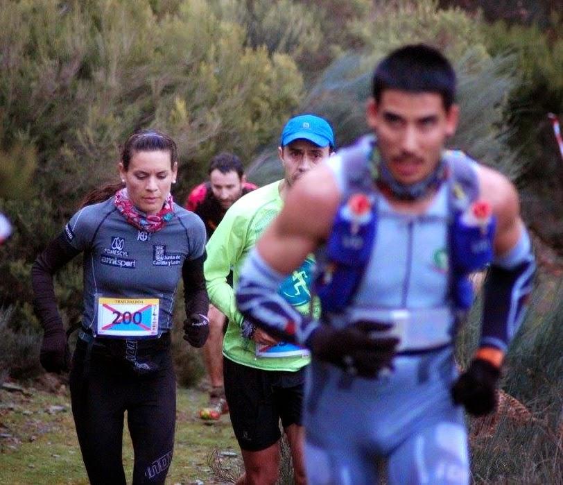 María Marcos, en el Trail Balboa 2015. /RAULÍN ÁLVAREZ
