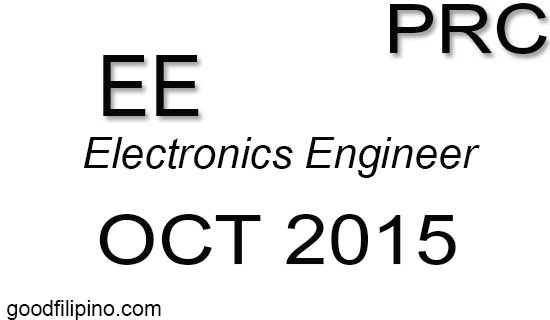 October 2015 Electronics Engineer board exam results