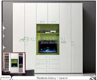 lemari minimalis modern tv Galaxy