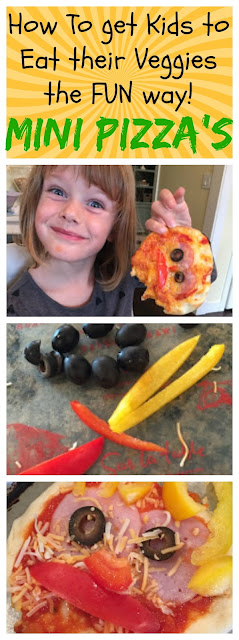 How to get kids to eat veggies the fun way, mini pizza's, cooking with kids