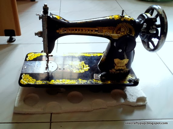 Vintage Butterfly Sewing Machine One Crafty Pup Magnificent Butterfly Sewing Machine
