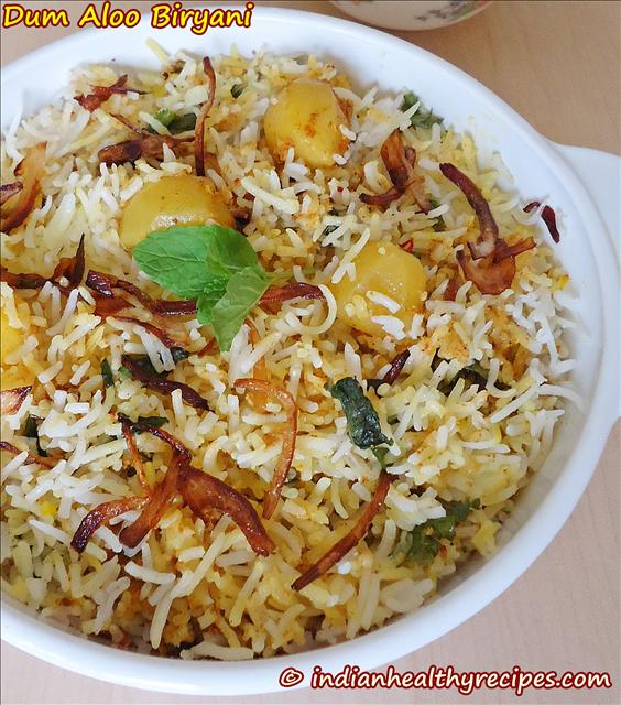 Dum Aloo Biryani Recipe | Quick Method