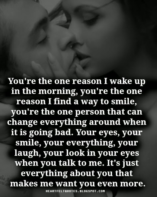 you 39 re the one reason heartfelt love and life quotes