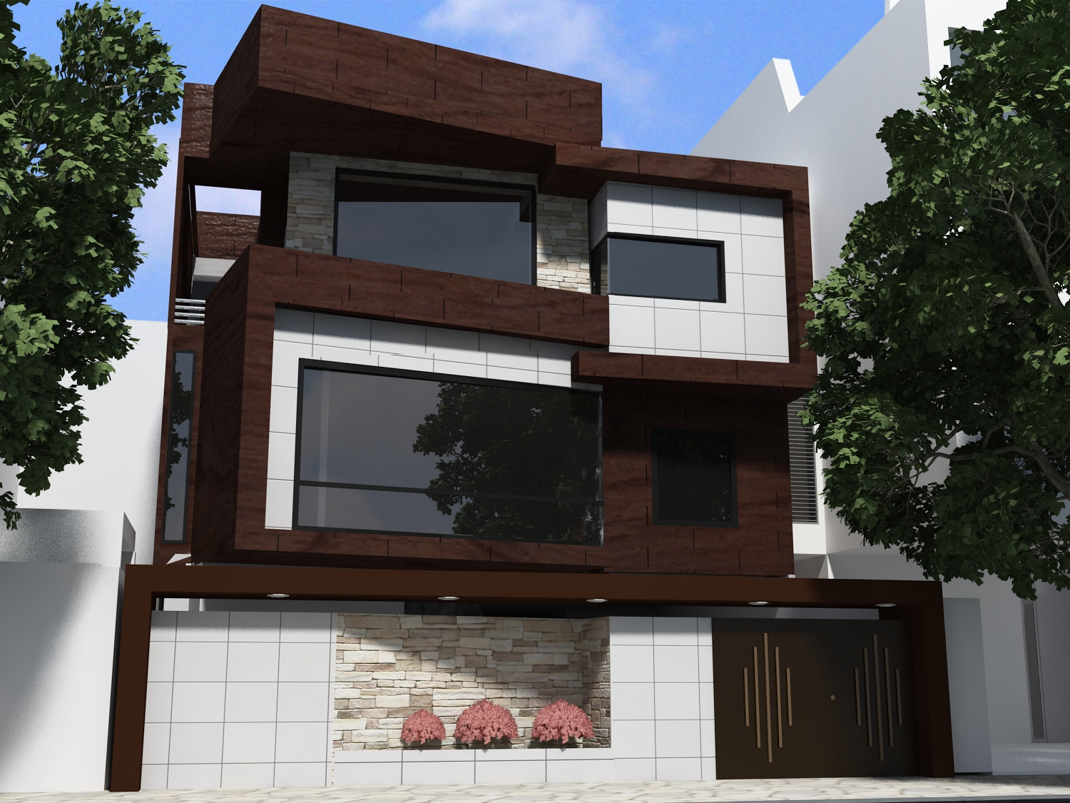 Ultra Modern Homes Designs Exterior Front Views.