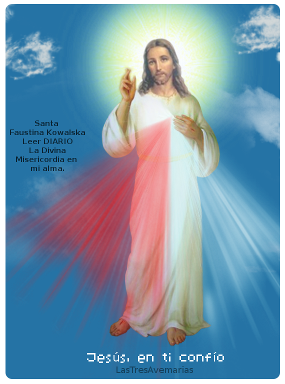 imagen de jesus misericordios fondo azul