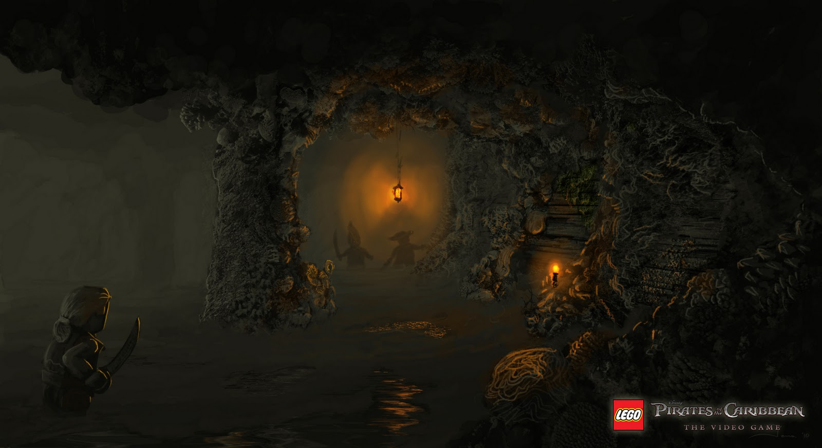 Concept art for lego pirates of the caribbean the video game