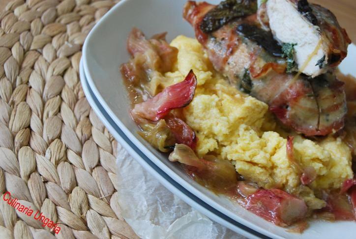 culinaria ungaria rhabarber h hnchen mit polenta von jamie oliver. Black Bedroom Furniture Sets. Home Design Ideas