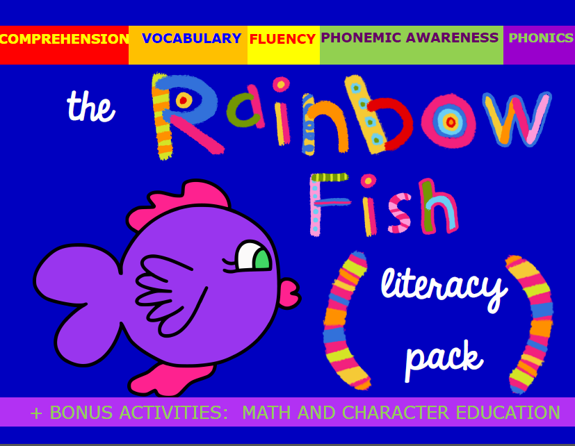 The Rainbow Fish, book activities, free printables