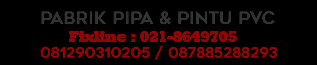 PABRIK PIPA PVC & PINTU PVC