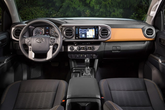 2016 All New Toyota Tacoma Edition interior dashboard view
