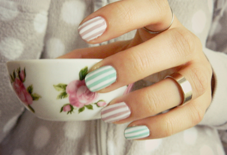 Love From Lisa Candy Stripe Nails