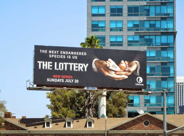 The Lottery series launch billboard