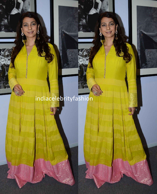 Juhi chawla in floor length Anarkali