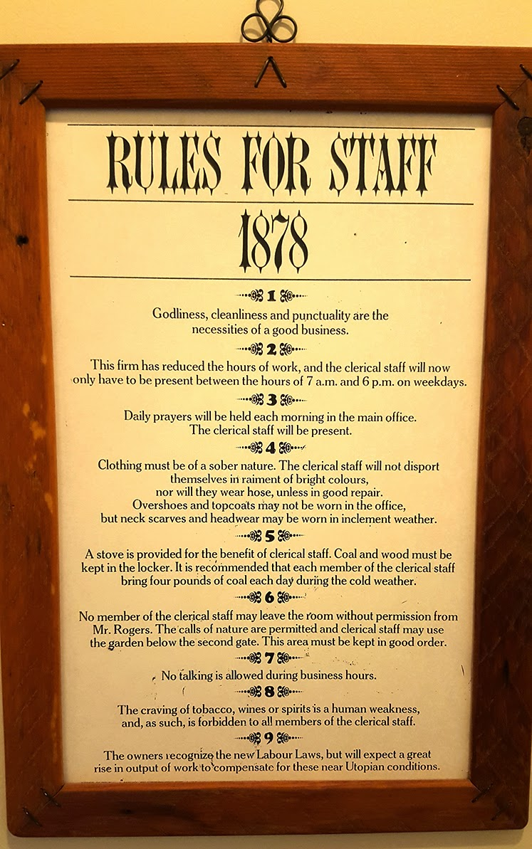 9 Rules for Staff in 1878 That Were Unbelievably Restricting