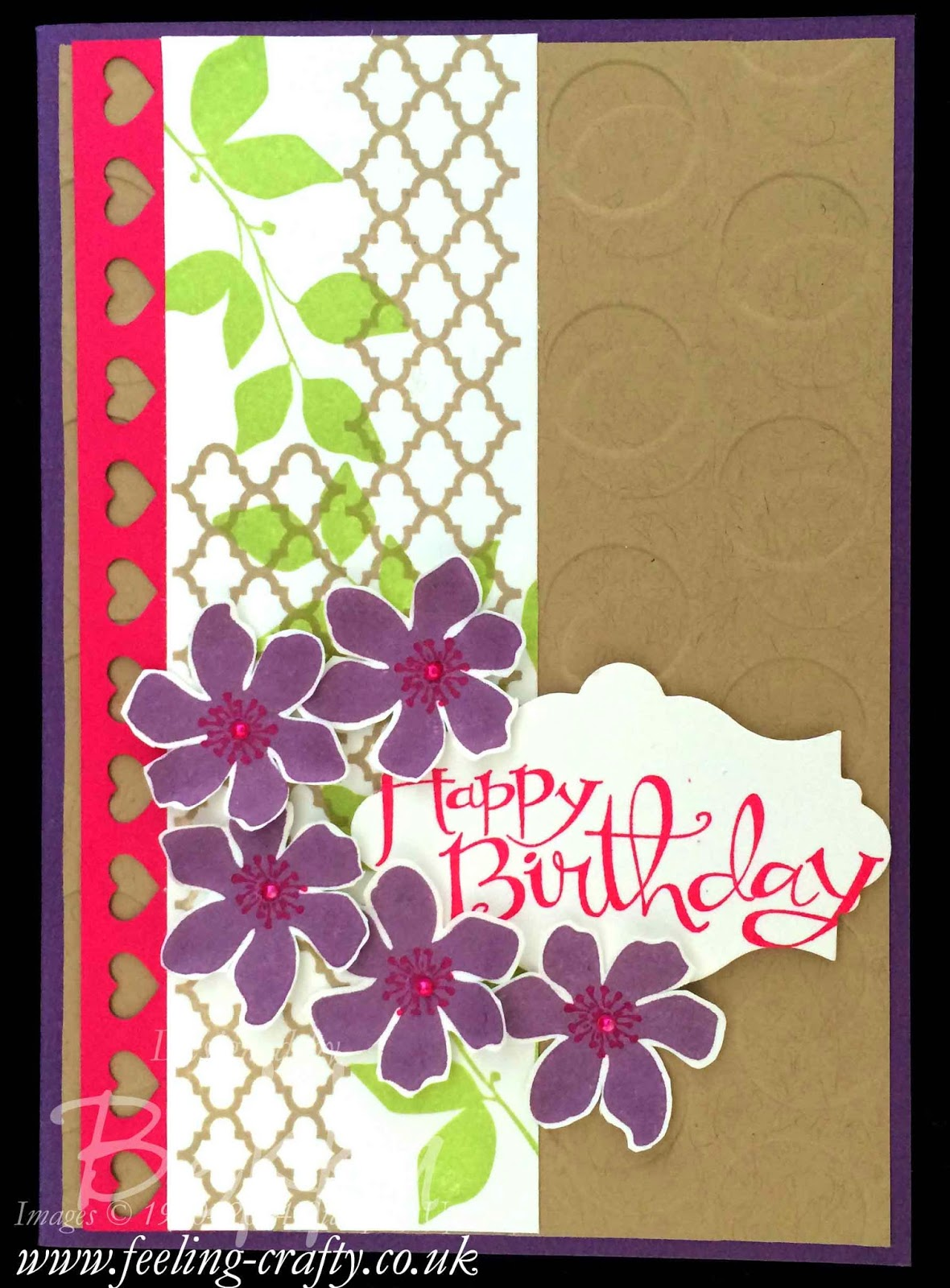 Summer Silhouettes Birthday Card uing a Fun Trick with your Embossing Folders - check this blog for lots of great ideas