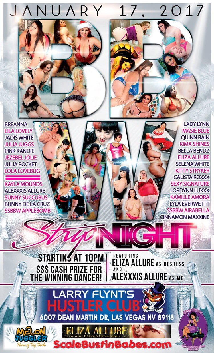 BBW Strip Night January 2017