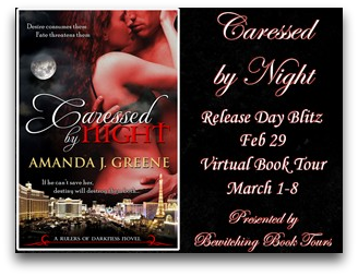 Caressed by Night Virtual Book Tour: Interview with author Amanda J. Greene