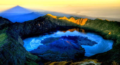 mount rinjani top panorama views