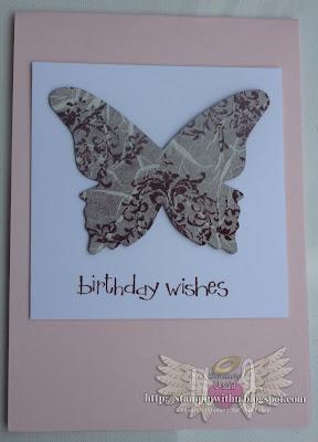 Faux Silk Big Shot Butterfly Card