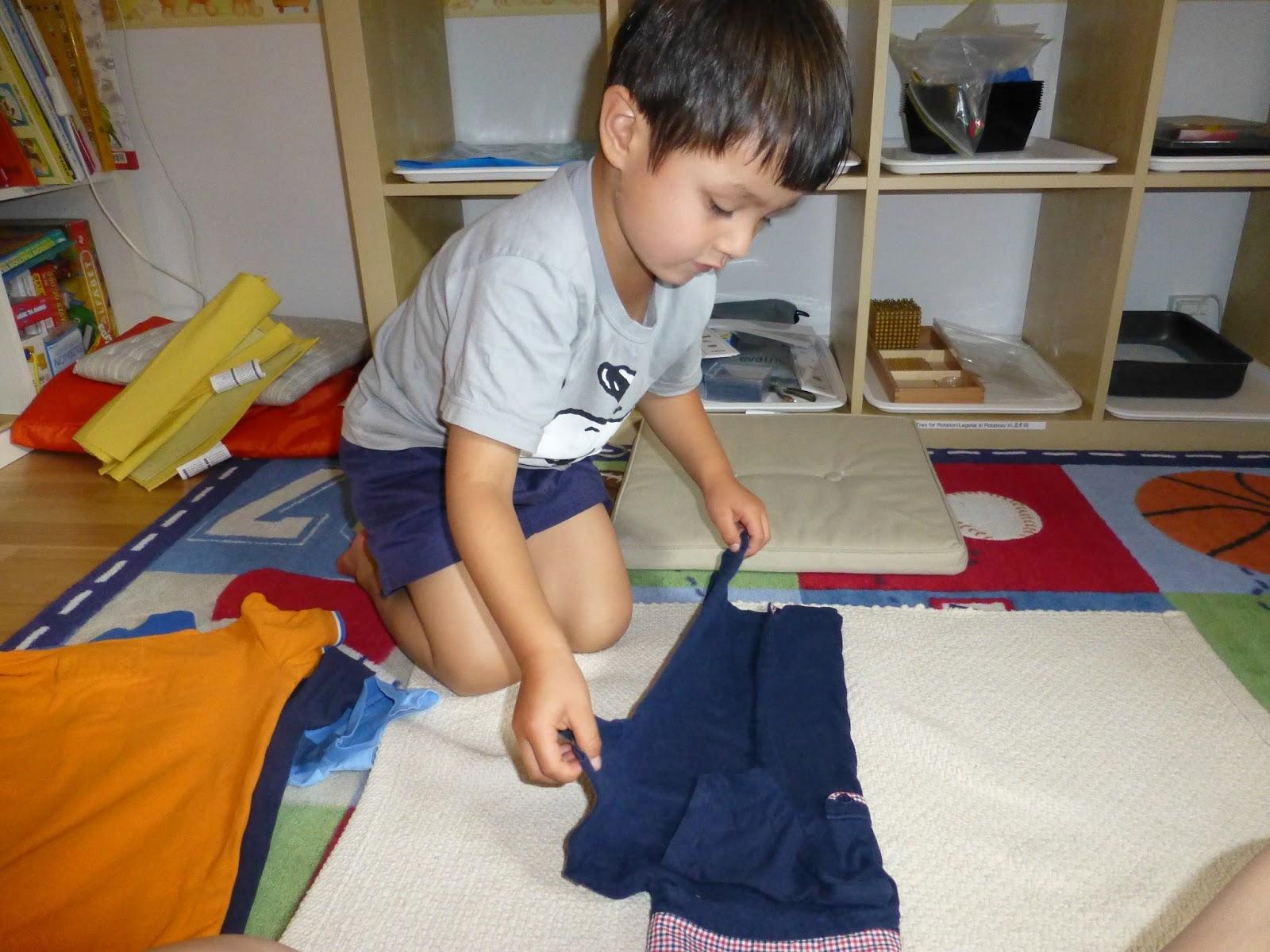 Family FECS Montessori Activity Folding Clothes