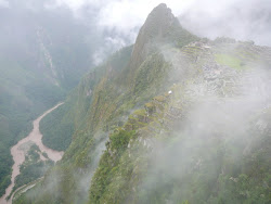 Machu Picchu and Urubamba River, below