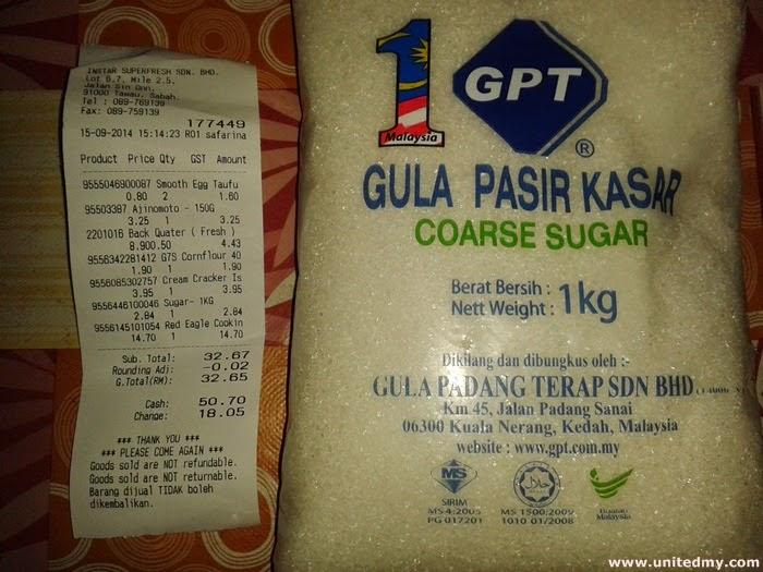 Coarse Sugar Malaysia 1KG