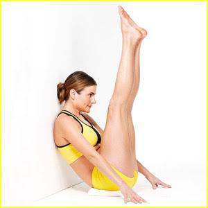 фитнес за плосък корем - упражнение коремно пружиниране с вдигнати крака