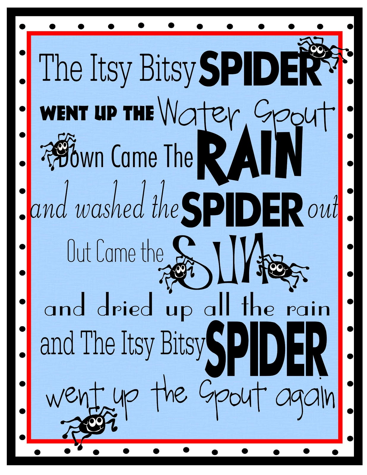 It is a graphic of Massif Printable Nursery Rhyme