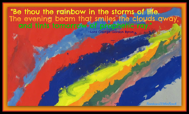 photo of: Rainbow Painting in the Face of Tragedy Quote via RainbowsWithinReach