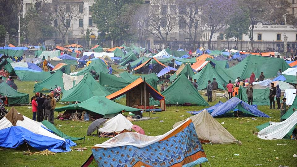 Tent cities have popped up in open green spaces all over the city.