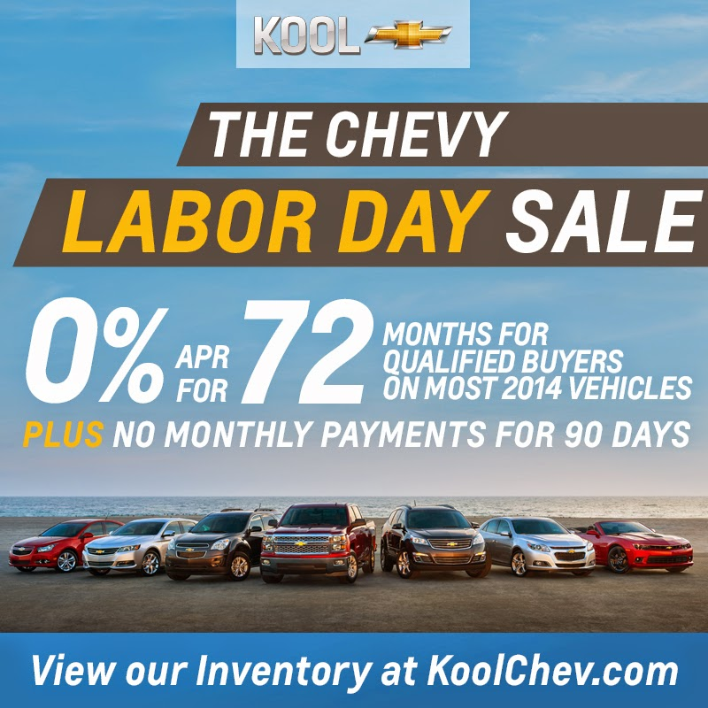 Chevy Labor Day Sale at Kool Chevrolet