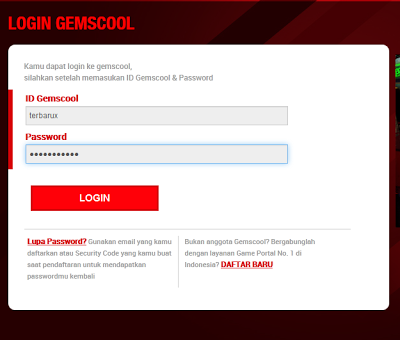 Login Gemscool Pint Blank