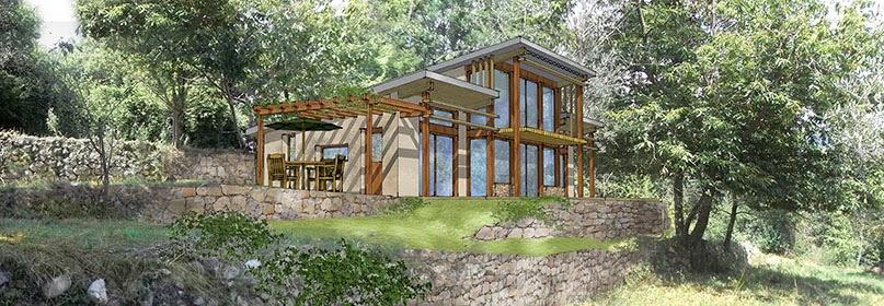 trihab architecture bioclimatique bois cord et ossature bois sospel. Black Bedroom Furniture Sets. Home Design Ideas