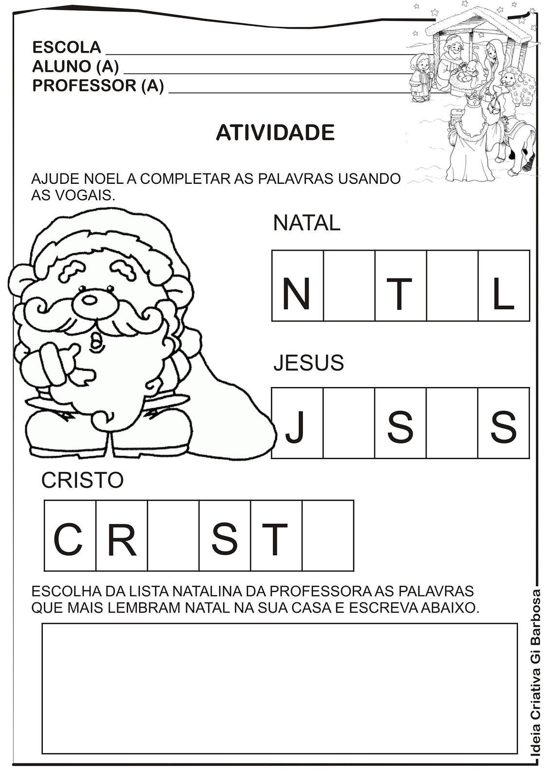 Top Atividade Natal para Imprimir | Ideia Criativa - Gi Barbosa  LX77