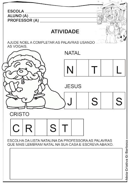 Atividade Natal para Imprimir