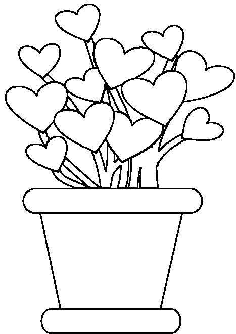 Parts of Plants Coloring Page http://freecoloringpagesonline.blogspot.com/2011/12/potted-plants-coloring-pages.html