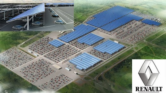 Renault Solar Project in France has the world's largest system in the automotive industry, with Trina Solar modules in a 400,000 square meters surface