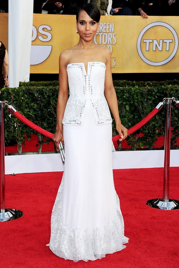 kerry washington white red carpet dress