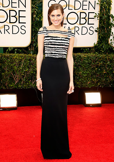Allison Williams in Golden Globes 2014