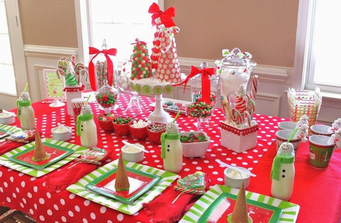 decoracao festa zumbi:Uma mesa de Natal fácil de se reproduzir e fica linda para todas as