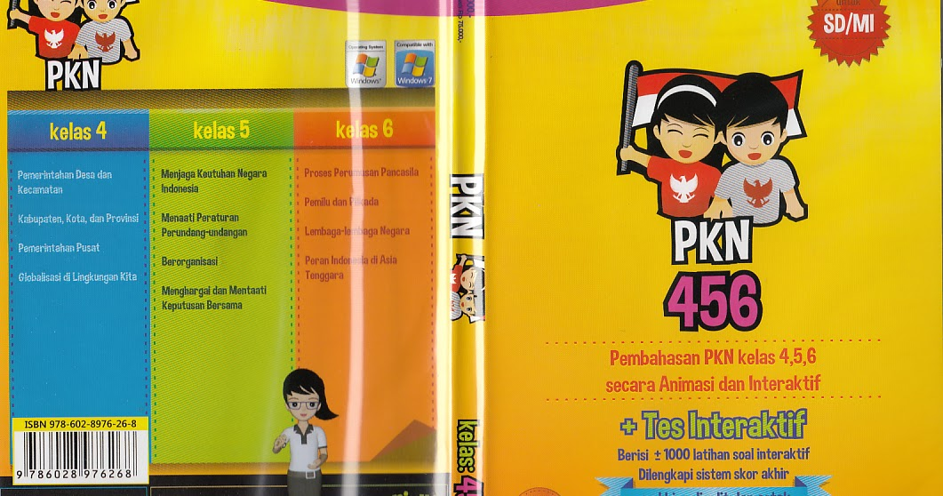 Toko Buku Rahma Cd Animus Pkn Kelas 4 5 6 Sd Mi