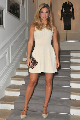 Bar Refaeli Sexy Legs At The Dior Haute-Couture Fashion Show
