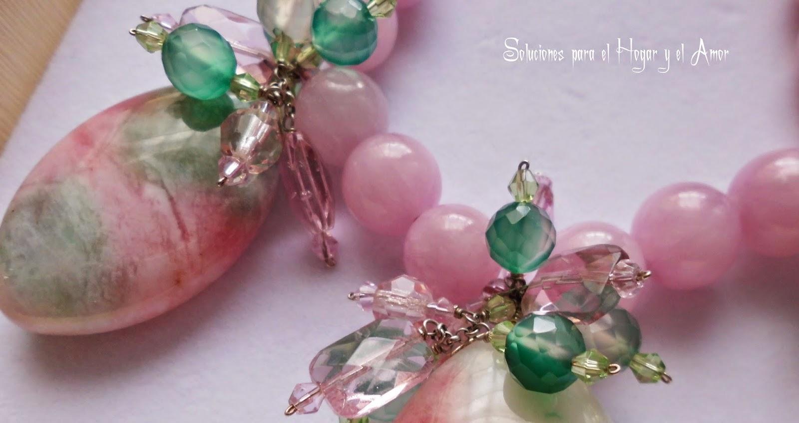 Cristales de Cuarzo rosa con matices verdes y cristales de swaroski, que significa el cuarzo rosa? propiedades
