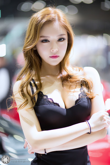 2 Yu Jin - Seoul Motor Show 2015 - very cute asian girl-girlcute4u.blogspot.com